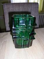 Wladislav Urban zöld üveg váza