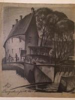 Németh István (építész): Bajor utcakép, 1945