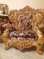 Óriási barokk trónszék garnitúra