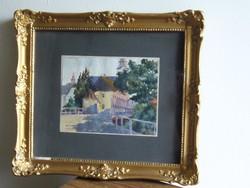34x30cm / szignózott festmény keretben üvegezve régiség