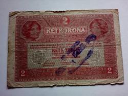 1917-es 2 Korona Bélyegzett F