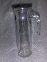 Retro üveg vizes boros kancsó kiöntő (kszp)