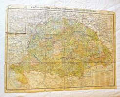 A Magyar Szt. Korona országainak közigazgatási és közlekedési térképe 1903
