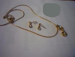 Gold Filled Swarovski köves szett, garnitúra