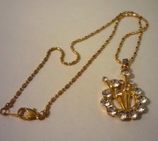 Gold filled nyaklánc kristályos medállal