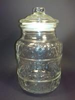 KETTŐ darab nagy méretű fedeles  aromazárós üveg tároló együtt ennyiért!! Floráriumnak is látványos