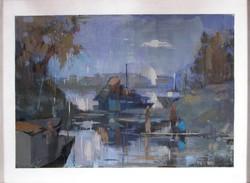 Tápay Lajos : Tápéi téli kikötő