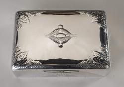 Ezüst szecessziós doboz