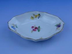 0D815 Antik jelzett kardos Meisseni porcelán tálka