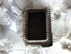 Régi ezüstözött alpakka asztali képkeret