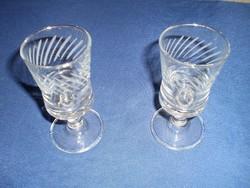 Talpas stampedlis üveg pohár 2 darab