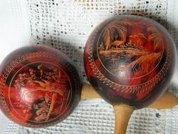 Gyönyörű régi faragott kubai rumbatök, hangszer