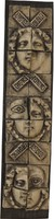 0O205 Kortárs művészeti kerámia mozaikkép 47 cm