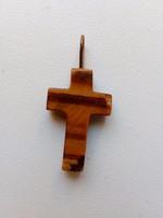 Tigrisszem medál-kereszt formára csiszolva-2x1,8 x 0,3 cm
