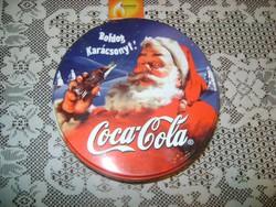 Retro karácsonyi coca-colás fém doboz