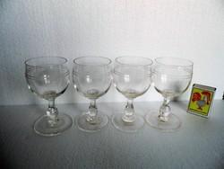 4 db Retro talpas pohár ,hibátlan