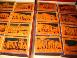 Gyufacimke szett   SzUnióból  ,gyűjtői db ,az 50es évek, nagy moszkvai színházakról