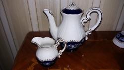 Zsolnay pompadúr kávéskanna és tejes