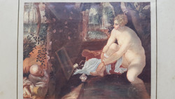 Tintoretto:Susanna und die beiden Alten Zsuzsánna és a vének, mérete a nyomatnak:21,5cmX16cm