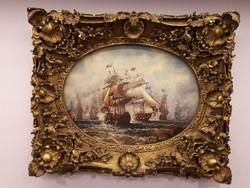 Hajók tengeri csata szép keret