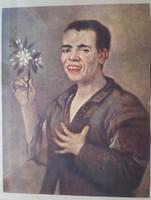 Diego Velasqez:Der lachende Bursche(A nevető fiú),a nyomat mérete:20,5cmX16cm