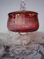 Antik üveg bonbonier
