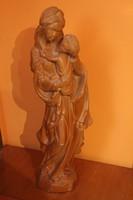 Madonna gyermekével Nagyméretű faszobor