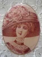 Régi női bross vintage kitűző