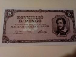 1946-os 1000000 B.-Pengő aUNC