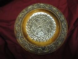Intarziás fa tányér