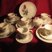 1888 Régi Queen Fine reggeliző szett 6 személyes