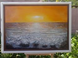 Az örök naplemente, 80x110cm, a Csendes-óceán kisugárzásával, Károlyfi Zsófia