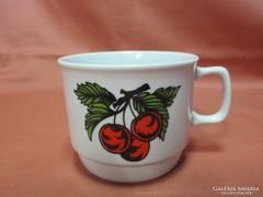 Cseresznyés Zsolnay bögre, csésze