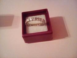 Különleges cirkon köves ezüst gyűrű