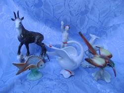 6 db porcelán figura egyik szebb, mint a másik
