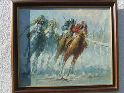 Lóverseny vásznon