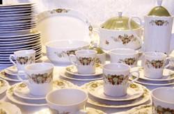Csodaszép, ritka 60 darabos Bavaria Eschenbach porcelán készlet, 10 személy részére,