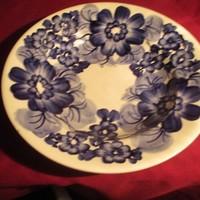 1888 Régi lengyel kézzel festett fajansz mély tányér 24 cm