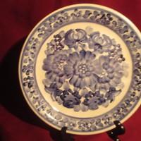 1888 Régi lengyel kézzel festett fajansz mély tányér 20 cm