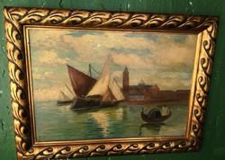 Kvalitásos Magyar festmény 1930 ból, szignózott