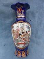 Karácsonyra!Nagyméretű Japán Satsuma váza.Hibátlan,szép darab.30cm
