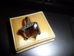 Ezüst gyűrű / füstkvarc
