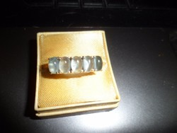 Ezüst gyűrű / akvamarin