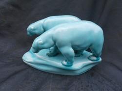 Karácsonyra!Zsolnay jegesmedve pár.