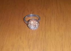Jelzett ezüst Swarovski gyűrű