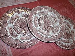2db. angol jelenetes sütis tányér