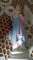 Régi Szűz Mária porcelán kegytárgy, szobor