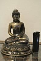 Antik bronz Buddha szobor 669g