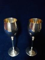 Aranyozott ezüst poharak Firenzéből