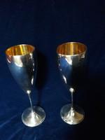 Aranyozott ezüst poharak Itáliából